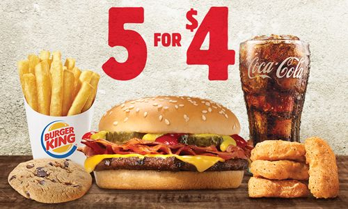 Burger King 5 for $4