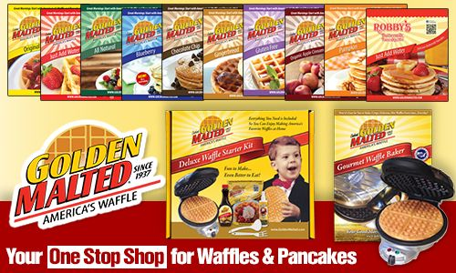 Golden Malted to Debut New Waffle & Pancake Mix Packaging, Waffle Baker & More at Booth #1764 at the Winter Fancy Food Show