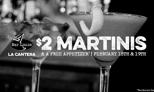 Bar Louie Celebrates 3 Years in San Antonio, Texas with $2 Martinis