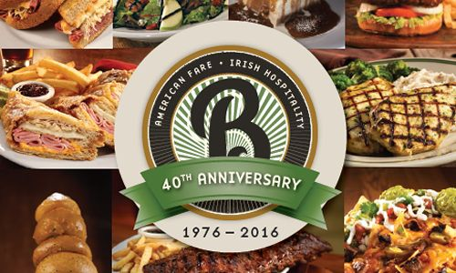 Bennigan's Rolls Out New 40th Anniversary Menu