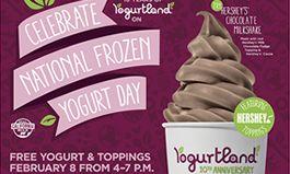 Yogurtland Celebrates Fifth Annual National Frozen Yogurt Day on February 8, 2016