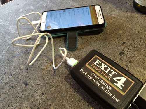 New Trendy Westchester Food Hall Offers Free USB Charging at Every Seat