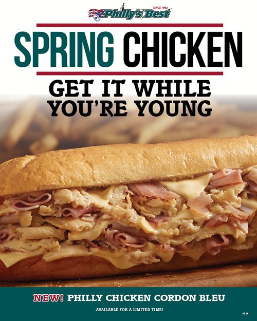 Philly's Best Introduces the New Philly Chicken Cordon Bleu