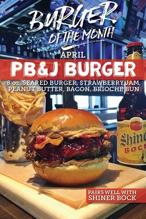 No Fooling! Walk-On's Debuts PB&J Burger on April 1