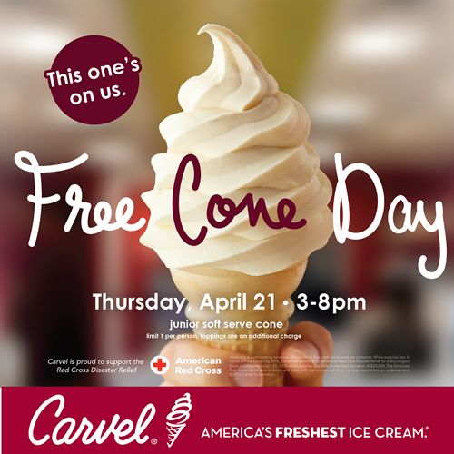 Carvel Kicks Off Ice Cream Season With Annual Free Cone Day on April 21