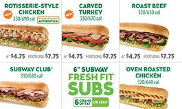 SUBWAY Sandwich Shops to Include Calories on all U.S. Menu Boards This Month