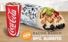 Del Taco's Menu Gets Even More Epic With the New Bacon Ranch Chicken Avocado Epic Burrito