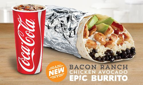 Del Taco's Menu Gets Even More Epic With the New Bacon Ranch Chicken Avocado Epic Burrito