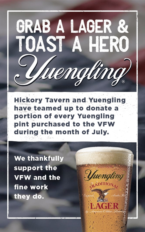 Hickory Tavern Raises Money for Veterans of Foreign Wars During Month of July