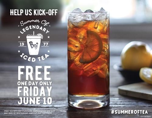 It's the #SummerOfTea at Bojangles'