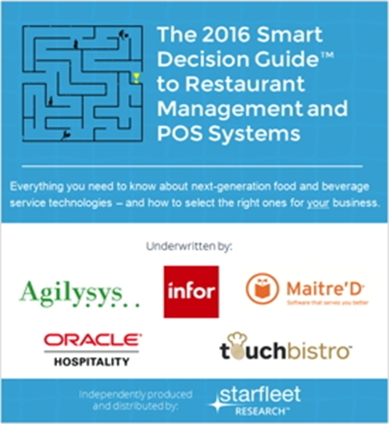Restaurant Management and POS Systems: Definitive Guide Explains the Whys, Whats and Hows of Next-Generation Technologies