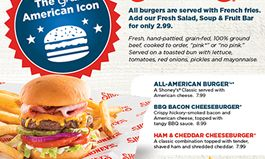 Shoney's Honors 'The Great American Icon' With Three New Limited-Time Only Burgers
