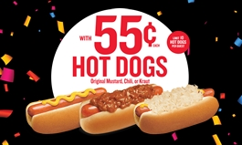 Wienerschnitzel Celebrates 55 Years With 55-Cent Hot Dogs