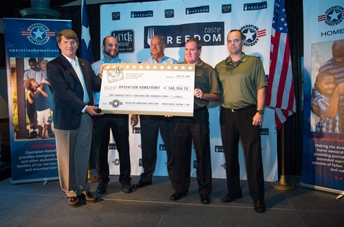 Generous Donation Changes Military Families' Lives Through Operation Homefront and 'Taste Freedom' Campaign