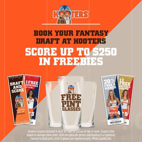 Hooters Fantasy Football Draft Party Reservations Now Open