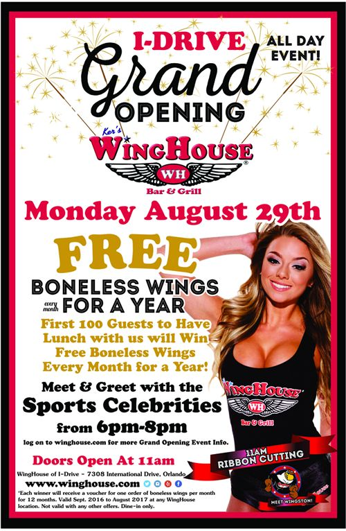 The WingHouse Bar and Grill International Drive Grand Opening