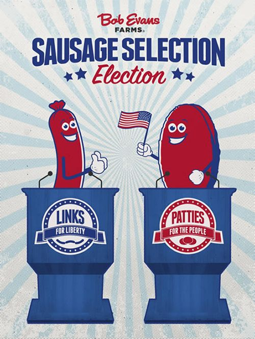 "Bob Evans Sausage Selection Election Asks Americans to Take ""Sides"" This Election Season"
