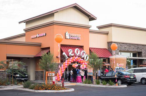 Dunkin Donuts Opens 12 000th Restaurant Worldwide In Riverside California