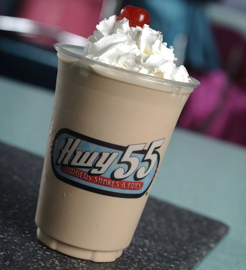Hwy 55 Burgers, Shakes & Fries is Shaking it up for National Chocolate Milkshake Day