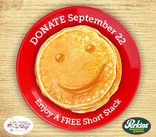 Perkins Restaurant & Bakery Free Pancake Day Benefitting 'Give Kids The World' Returns