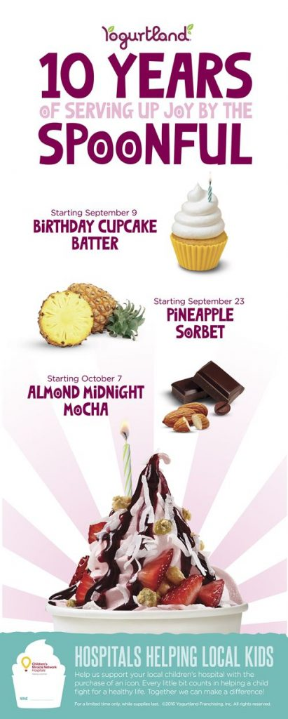 Yogurtland Teams up with Children's Miracle Network to Support Kids and Celebrate Its 10th Anniversary