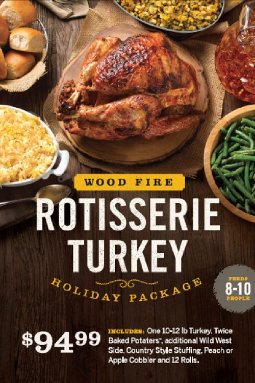 Cowboy Chicken Offers Wood Fire Rotisserie Turkeys for the Holiday