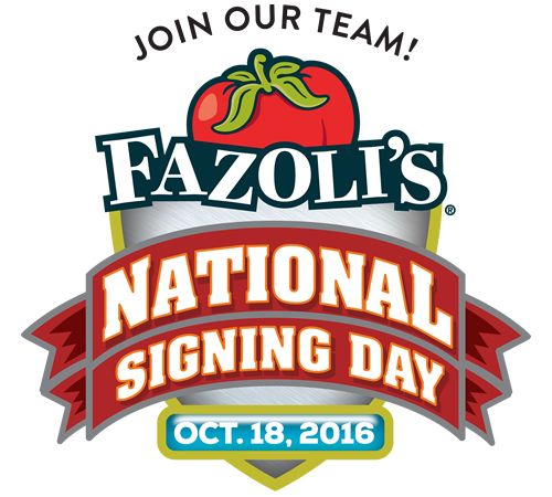 Fazoli's Second Annual 'National Signing Day' Looks to Hire Over 500 New Team Members Across the Country