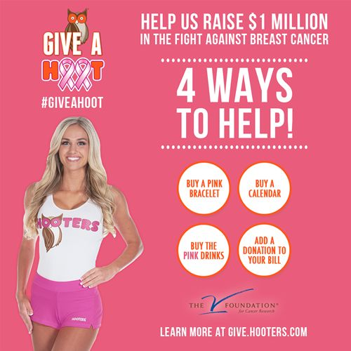 Hooters Asks America to 'Give A Hoot' in the Fight Against Breast Cancer