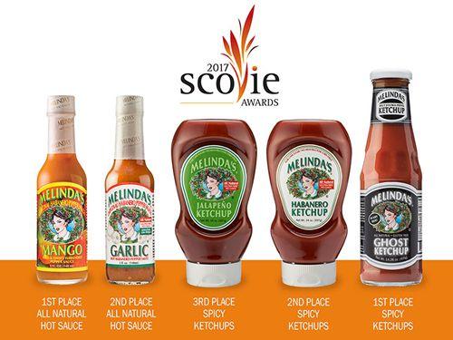 Melinda's Ketchups Sweep the Scovies; Hot Sauces Take Top 2 Awards