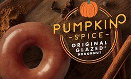 The Original Glazed Doughnut Goes Pumpkin