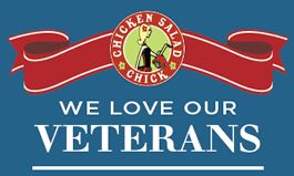 Chicken Salad Chick Salutes Veterans For Second Year With Free Meal On Veterans Day