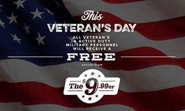 O'Charley's Offering Free Meals to Military on Veterans Day