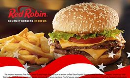 Red Robin Gourmet Burgers and Brews Salutes Military with Free Tavern Double Burger and Bottomless Steak Fries on Veterans Day