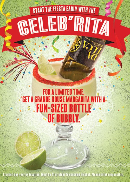 On The Border Mexican Grill & Cantina Turns Traditional Celebration Cocktails Upside Down!