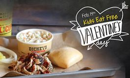 Kids Eat Free on Valentine's Day at Dickey's Barbecue Pit