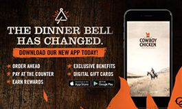 Cowboy Chicken Launches New App to Enhance Guest Service and Reward Loyalty