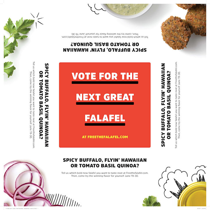 """LRXD and Garbanzo to """"Free the Falafel"""" in Restaurant's Recipe Promo"""
