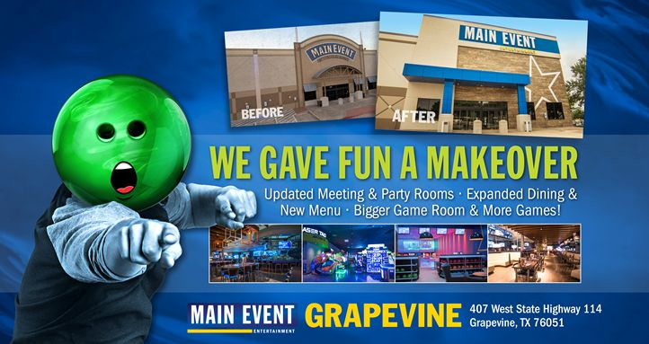 Main Event Entertainment To Unveil Remodeled Center In Grapevine