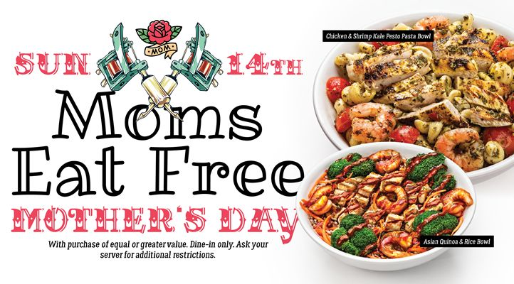 Moms Eat Free at Arooga's Grille House & Sports Bar on Mother's Day, Sunday May 14