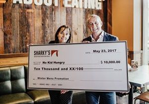 Sharky's Woodfired Mexican Grill Raises $10,000 for No Kid Hungry Helping to End Childhood Hunger in America