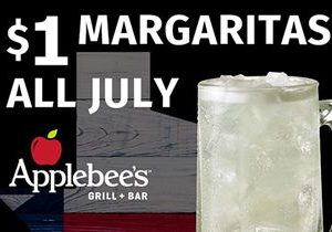 "Applebee's in Texas Offer Margaritas for a Buck – ""DollaRitas"" – for the Month of July"