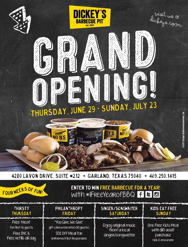 More Authentic, Texas Barbecue Coming to Garland with New Dickey's Location