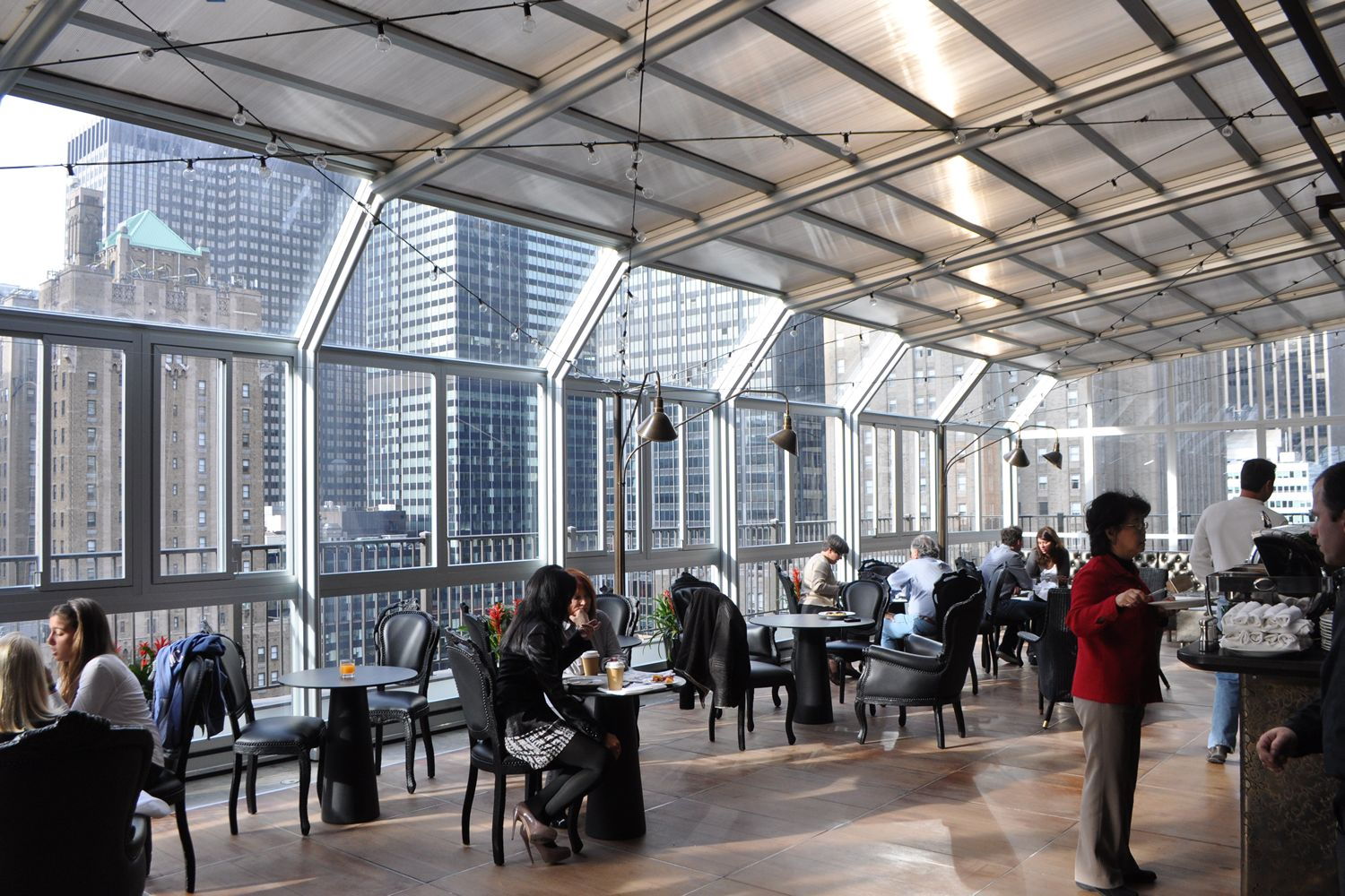 Rooftops with Roll-A-Cover Retractable Enclosures Make 'Best NYC Rooftops'