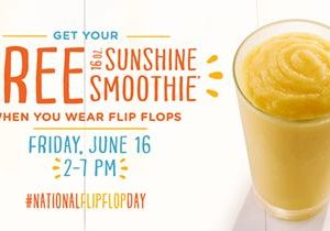 Tropical Smoothie Cafe Kicks off Summer with Free Smoothies for National Flip Flop Day