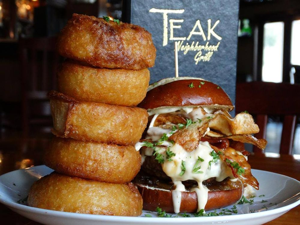 "Teak Neighborhood Grill Serves Up $5 Burgers All Month Long For Teak's Inaugural ""Burger World Tour"""