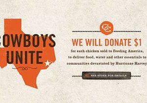 Cowboys Unite: Cowboy Chicken Supports Fellow Texans