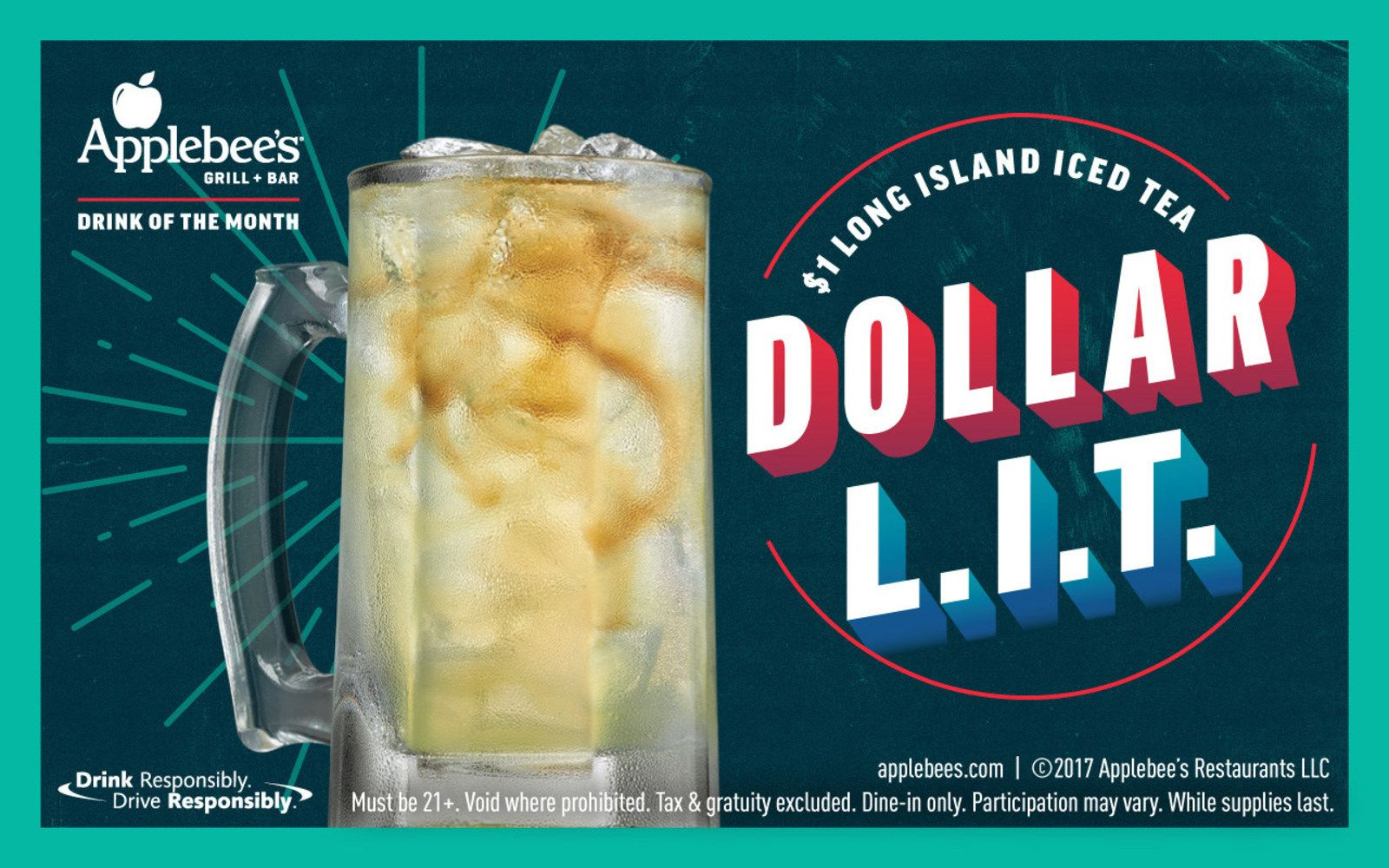 Applebee's Has $1 Long Island Iced Tea the Entire Month of December