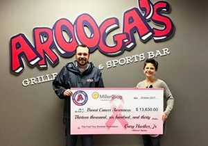 Arooga's Raises over $13,000 for Breast Cancer Awareness in October Fundraiser