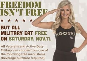 Hooters Invites Military to Eat Free This Veterans Day