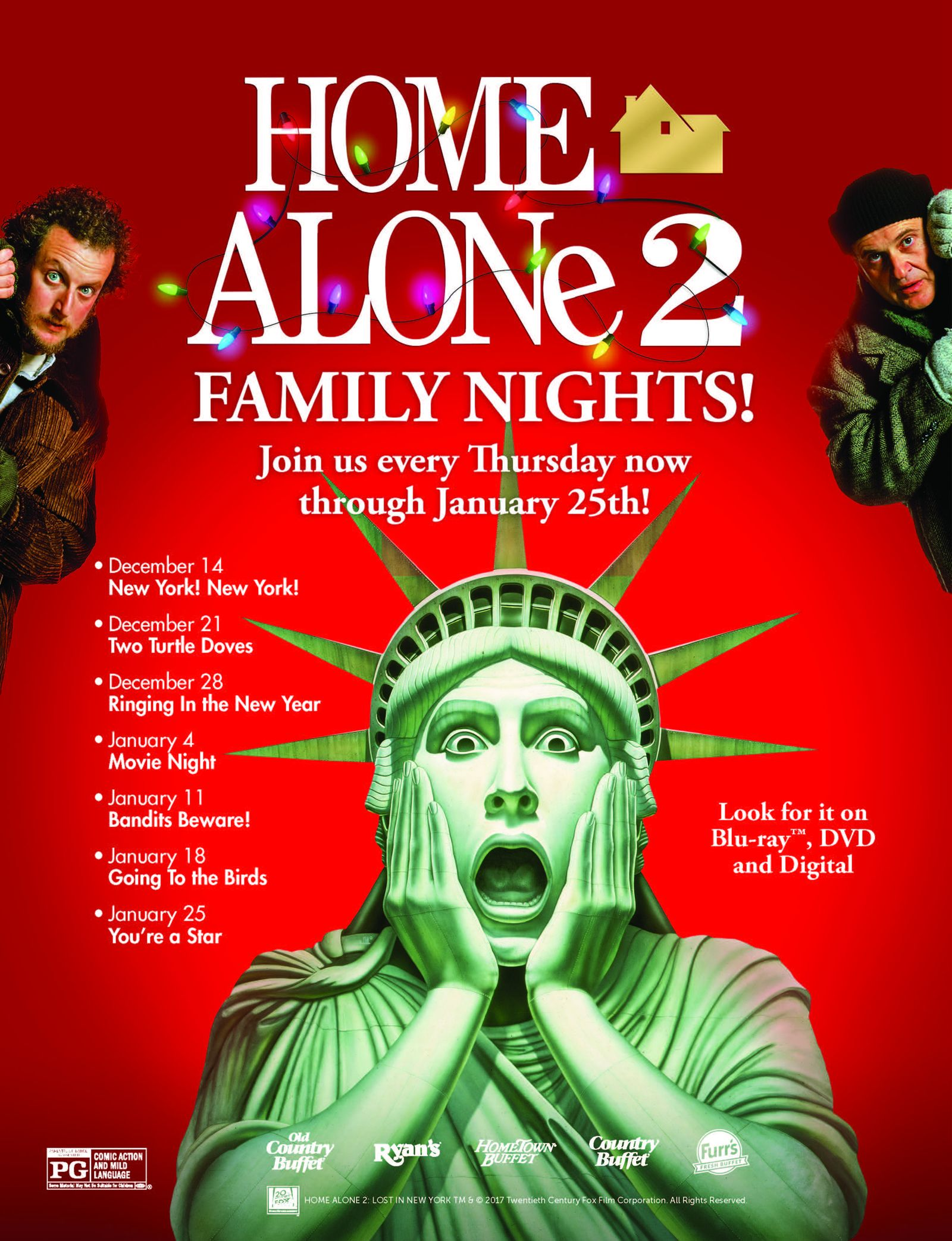 Ovation Brands and Furr's Fresh Buffet Feature a Classic Holiday Film for Newest Family Night, Starting Dec. 14